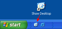Restaureaza Show Desktop in Windows XP