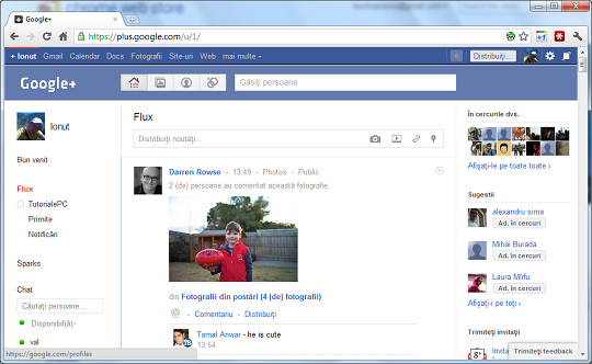 Transforma Google Plus in Facebook