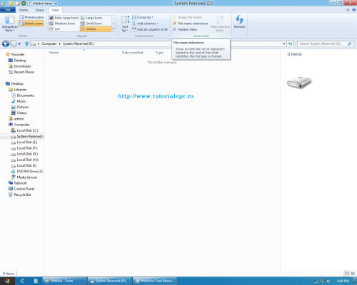 Windows 8 Explorer - fara super hidden files