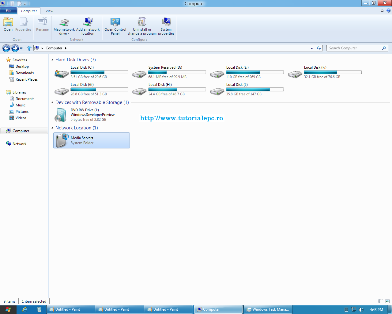 Windows 8 explorer - Metro UI