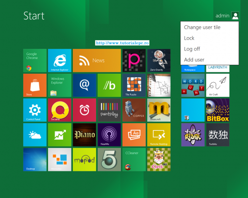 Windows 8 tablet desktop