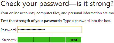 Microsoft password test
