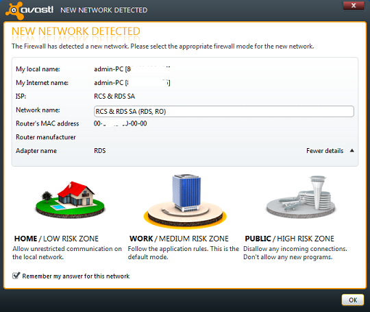 Avast internet security 6 - Firewall