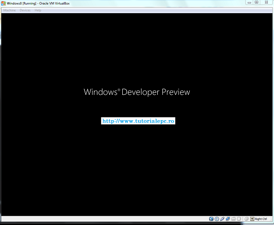 Instalare Windows 8 developer preview