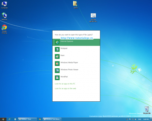 Windows 8 - meniul Open With