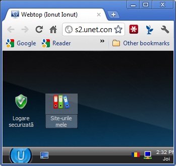 Administrare uCoz - windows 7