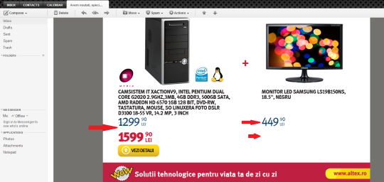 oferta in plus la altex